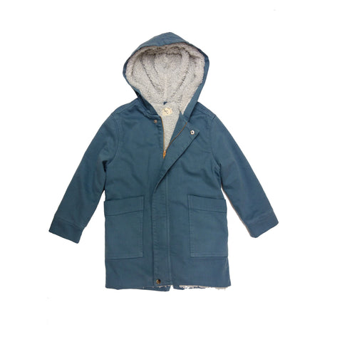 Nico Nico Jupiter Unisex Kid's Parka in Space Blue | BIEN BIEN