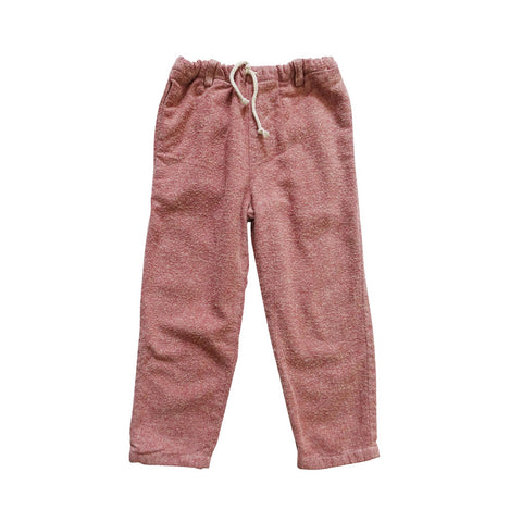 Nico Nico Act Flannel Kid's Drawstring Pant in Washed Red | BIEN BIEN
