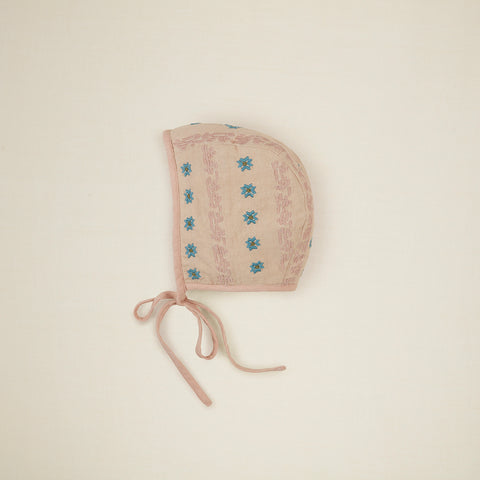 New Apolina Josie Embroidered Baby Bonnet Oat | BIEN BIEN bienbienshop.com