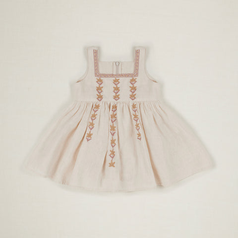 Apolina Betty Baby Embroidered Dress Ivory Linen | BIEN BIEN www.bienbienshop.com