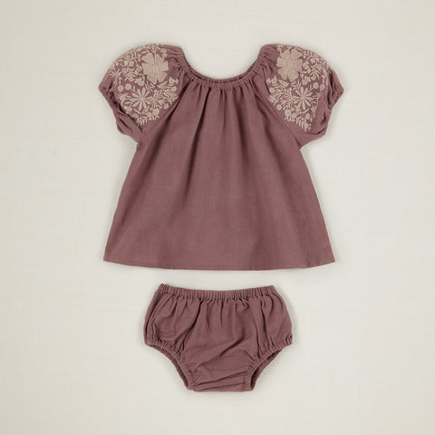 Apolina Barbara Baby Embroidered Puff Sleeve Tunic & Bloomer Set Slip | BIEN BIEN www.bienbienshop.com