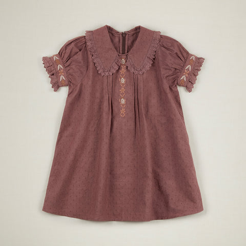 Apolina Hedy Kid's Short Dress Mauve Slip Cotton | BIEN BIEN www.bienbienshop.com