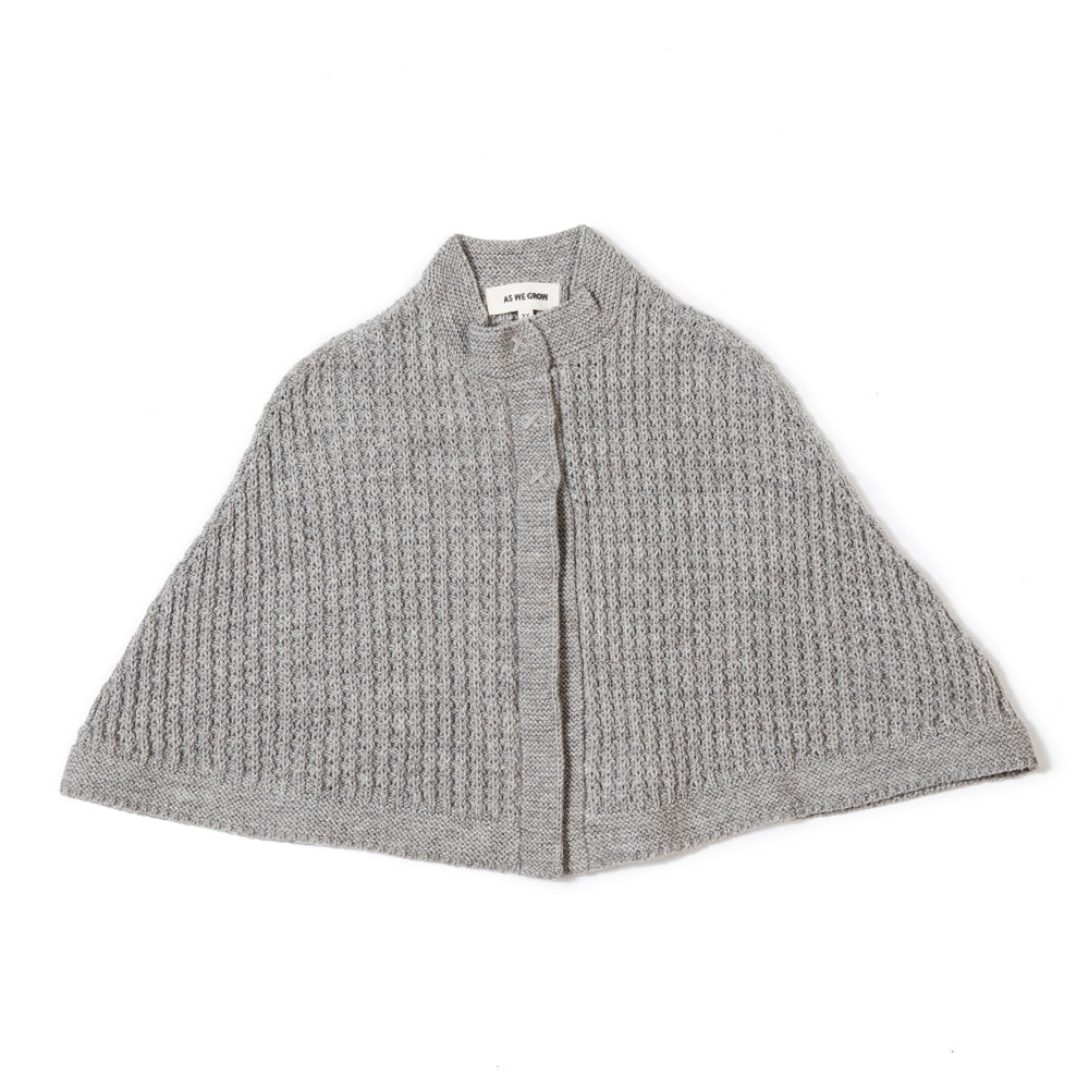 As We Grow Eco Wool Cape in Light Grey | BIEN BIEN