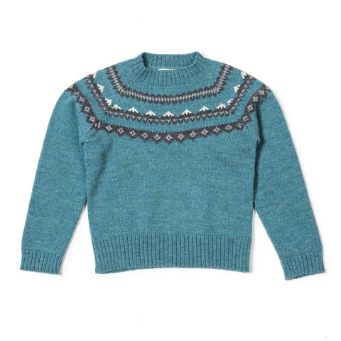 As We Grow Wool Mountain Sweater in Seablue Melange | BIEN BIEN