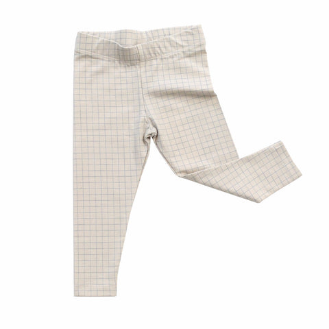 Tiny Cottons Unisex Medium Grid Pant Beige/Blue | BIEN BIEN