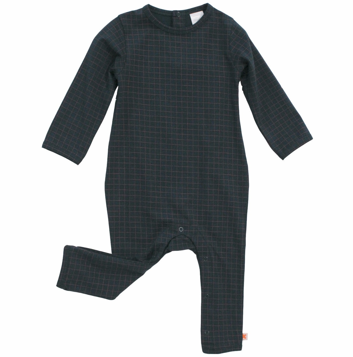 Tiny Cottons Unisex Medium Grid Baby One-Piece Navy | BIEN BIEN