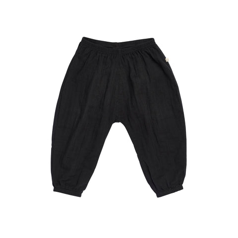 Bacabuche Lightweight Pant in Black - Unisex Baby/Toddler | BIEN BIEN