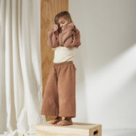 Bacabuche Baby & Kid's Fleece Wide Sweat Pant Nude | BIEN BIEN www.bienbienshop.com