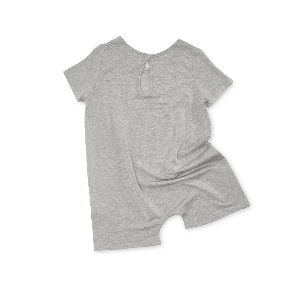 Bacabuche Oversized Knit Romper Heather Grey Baby & Kids | BIEN BIEN www.bienbienshop.com