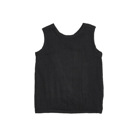 Bacabuche Cross Back Baby & Toddler's Tank in Black | BIEN BIEN