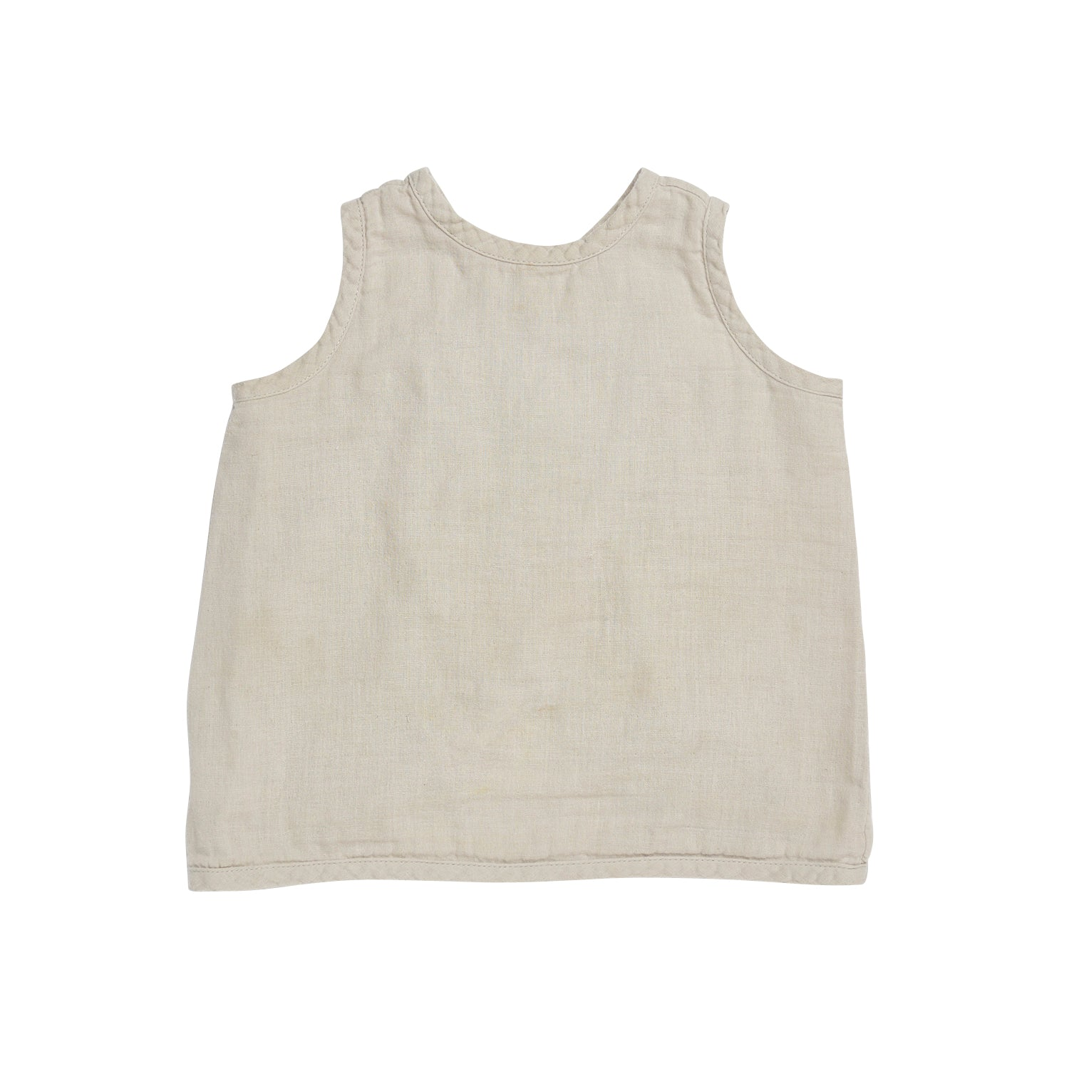 Bacabuche Cross Back Baby & Toddler's Tank in Dove Grey | BIEN BIEN
