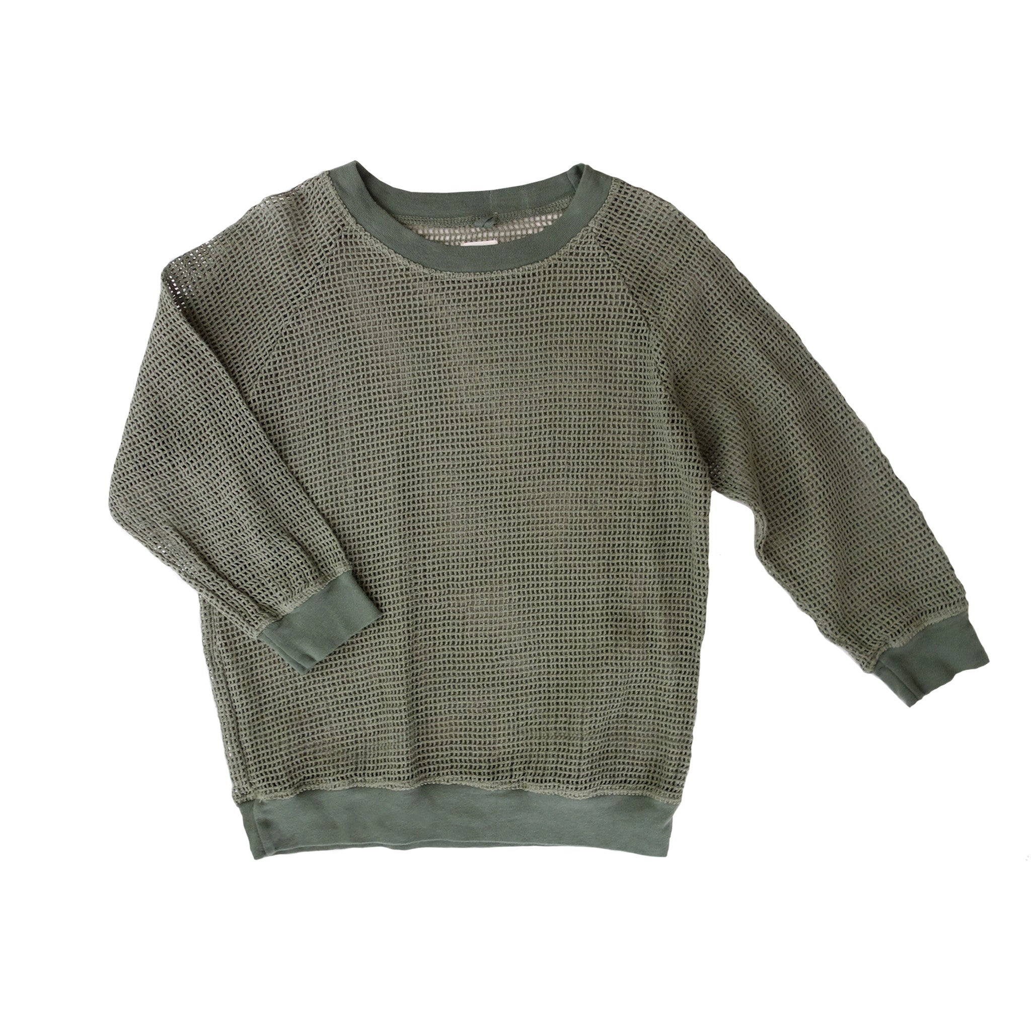 Nico Nico Banzai Kid's Long Sleeve Mesh Pullover in Palm | BIEN BIEN