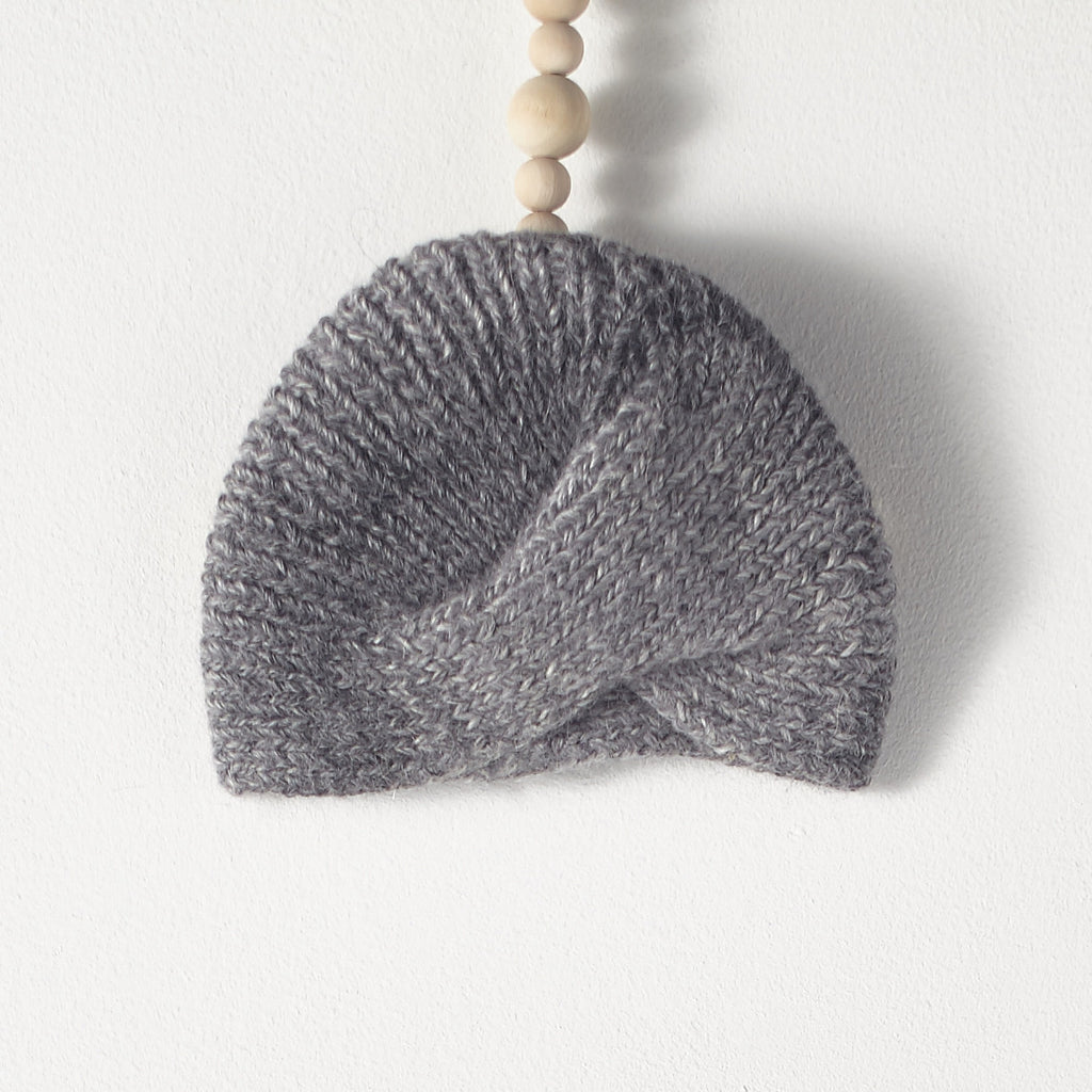 Bacabuche Baby Alpaca Turban in Charcoal | BIEN BIEN