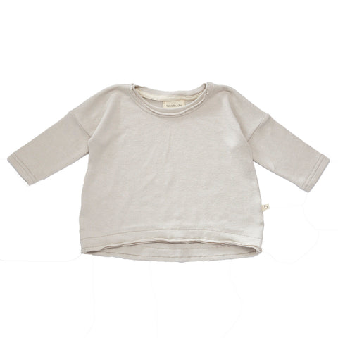 Bacabuche Wide Body Baby Pullover Sweater in Oyster  | BIEN BIEN