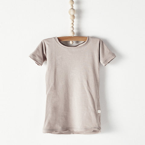 Bacabuche Long Body Baby T-Shirt in Fawn | BIEN BIEN