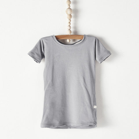 Bacabuche Long Body Baby T-Shirt in Grey | BIEN BIEN