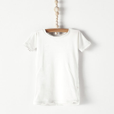 Bacabuche Long Body Baby T-Shirt in Snow | BIEN BIEN
