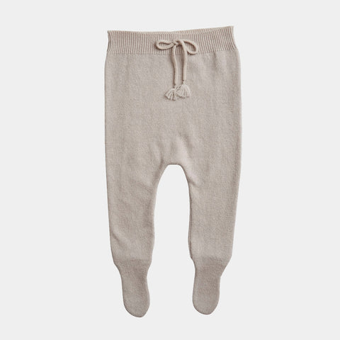 Belle Enfant Cashmere Baby Footed Legging in Alabaster | BIEN BIEN