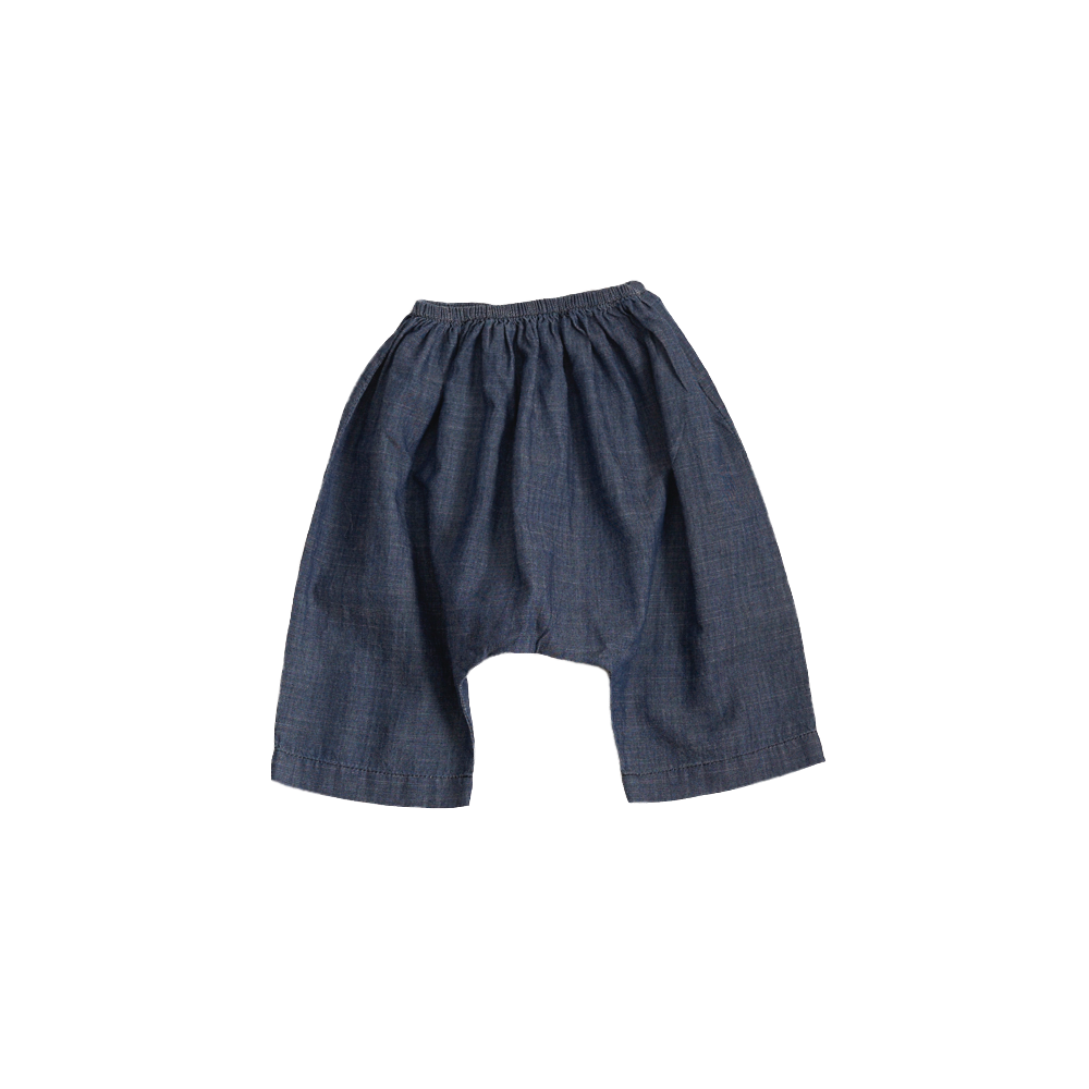 Belle Enfant Baby Harem Pant in Medium Wash Chambray | BIEN BIEN