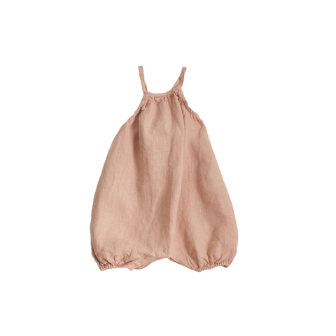 Belle Enfant Baby Girl Sleeveless Romper in Rose Dust | BIEN BIEN