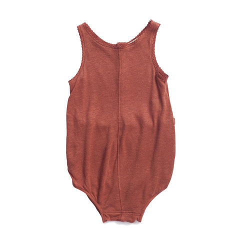 Caramel Baby & Child Vetiver Baby Romper Sequoia