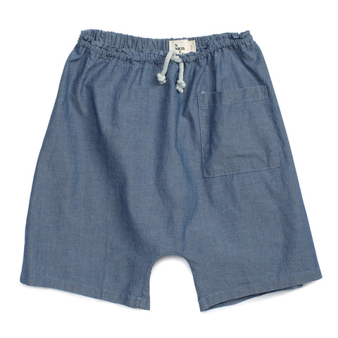 Nico Nico Richards Harem Unisex Short Chambray