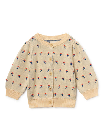 Bobo Choses Flowers Baby Girl Organic Cotton Cardigan | BIEN BIEN | www.bienbienshop.com
