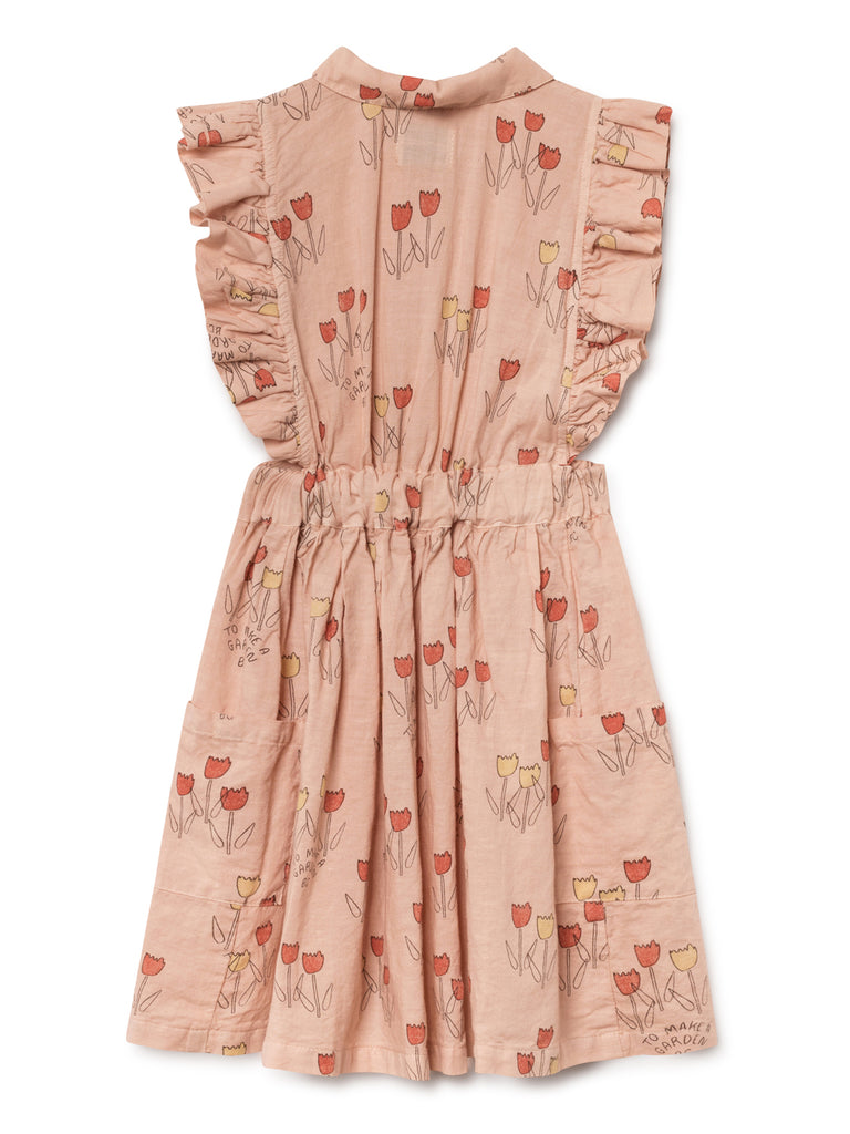 Bobo Choses Poppy Prairie Kid's Ruffle Dress Peach | BIEN BIEN | www.bienbienshop.com