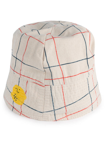 Bobo Choses Lines Unisex Kid's Bucket Hat White Cotton | BIEN BIEN