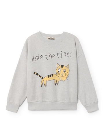 Bobo Choses WIMAMP Kid's Tiger Sweatshirt Grey Melange | BIEN BIEN