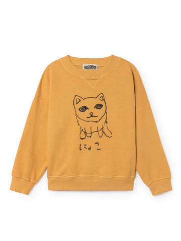 Bobo Choses WIMAMP Kid's Cat Sweatshirt Yellow | BIEN BIEN