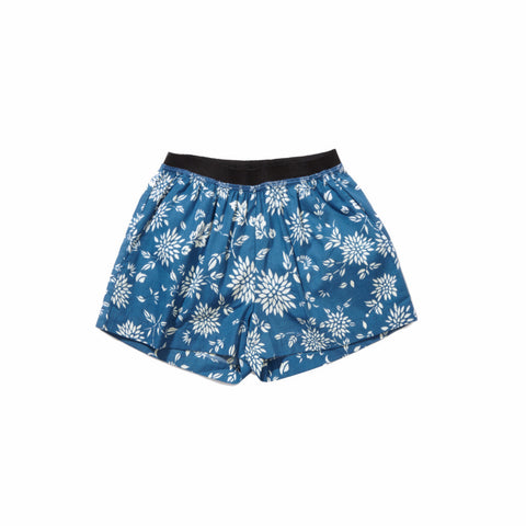 Caramel Borage Kid's Boxer Short in Cornflower Blue Kimono | BIEN BIEN