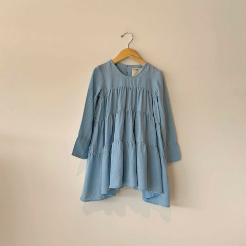 Boy+Girl Jemma Kid's Dress Azure Eyelet | BIEN BIEN www.bienbienshop.com
