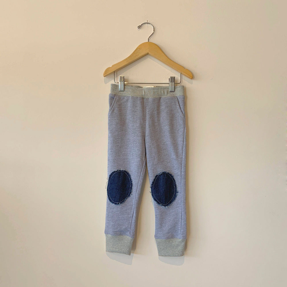 Boy+Girl Kid's Knee Patch Lounge Pant Heather Grey | BIEN BIEN www.bienbienshop.com