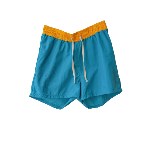 boy+girl Parker Boy's Swim Trunk in Turquoise | BIEN BIEN