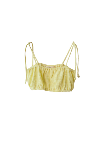 boy+girl Pamela Girl's Bikini Play Suit in Lemon Yellow | BIEN BIEN