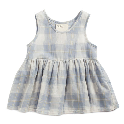 boy+girl Katie Girls Top Sea Plaid