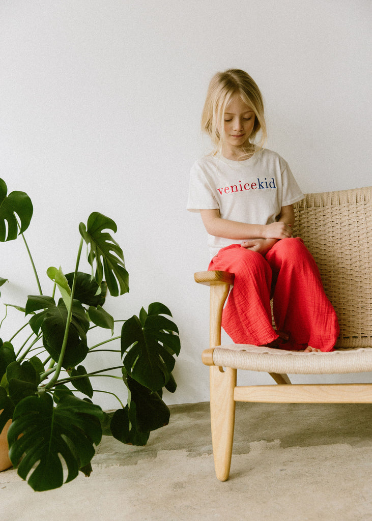 Boy+Girl Siena Kid's Culotte Pant Apple Red Cotton | BIEN BIEN www.bienbienshop.com