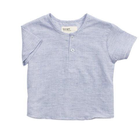 boy+girl Nico Baby Boy Kurta Blue Hatch