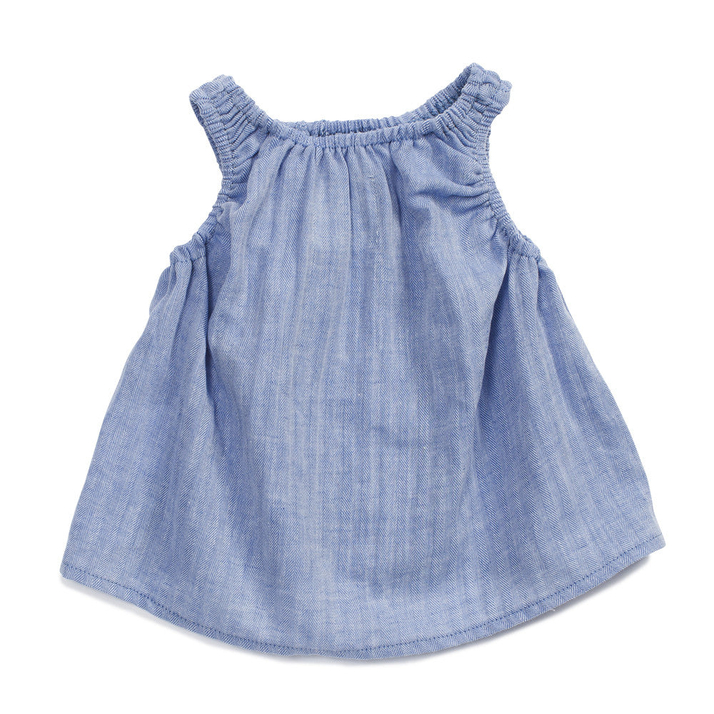 boy+girl Poppy Baby Girl Top Cerulean