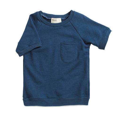 boy+girl Short Sleeve Knit Tee Lapis