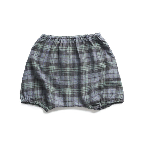 boy+girl Poppy Bloomer in Green/Charcoal Plaid