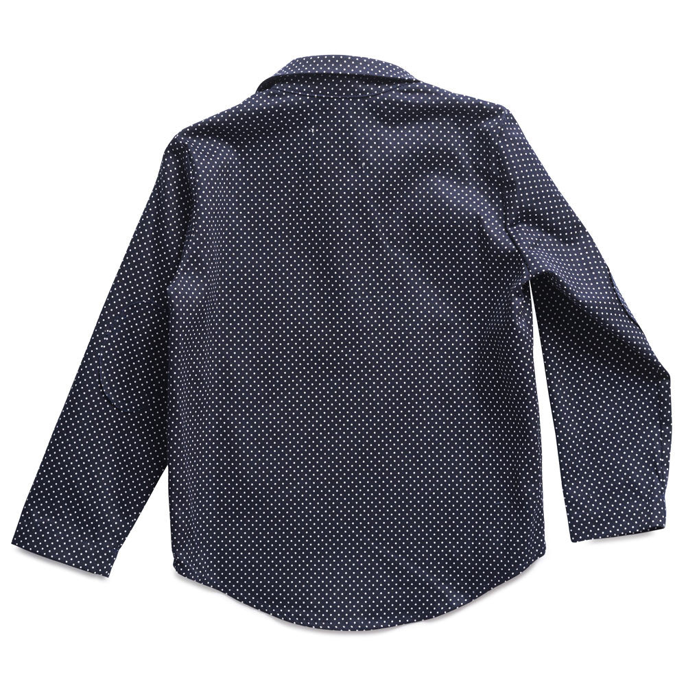 boy+girl Boy's Popover Top in Navy Polka Dot | BIEN BIEN