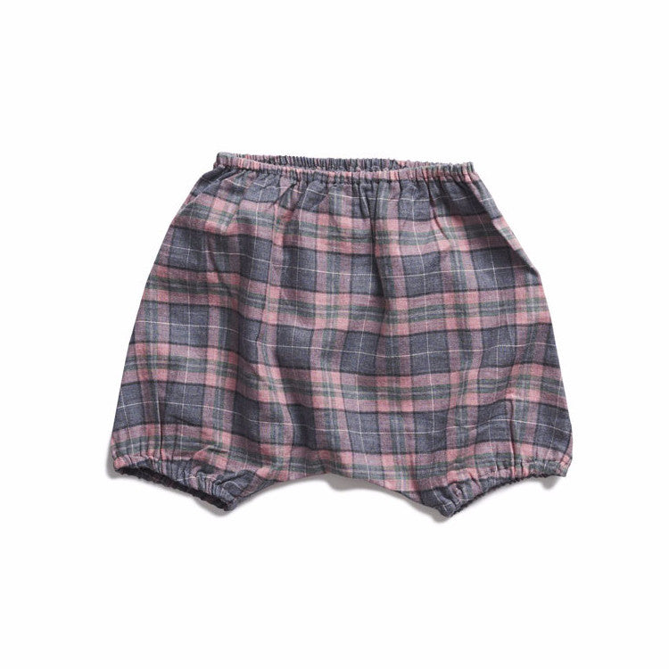 boy+girl Poppy Peasant Bloomer in Pink/Green Plaid