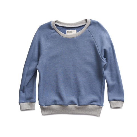 boy+girl Raglan Crew in Cerulean