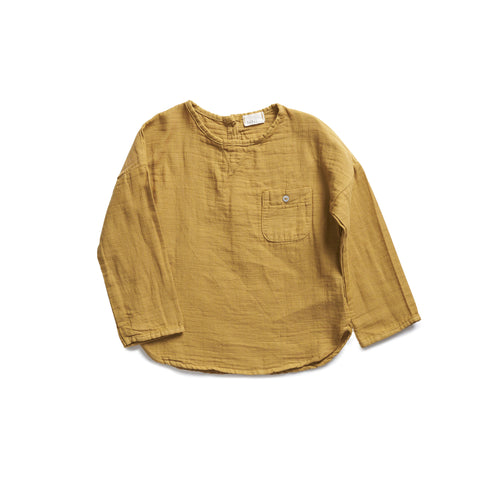 Buho Teo Baby Shirt in Ochre