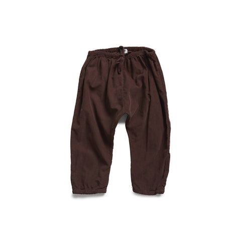 Buho Kim Baby Trousers in Bordeaux Microcorduroy