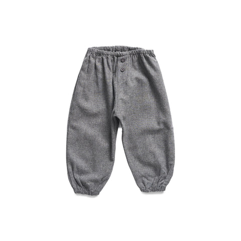Buho Francis Baby Trousers in Dark Grey Flannel
