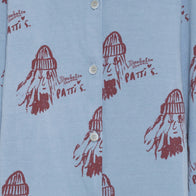 The Animals Observatory Beetle Kid's Shirt in Blue Allover Patti | BIEN BIEN