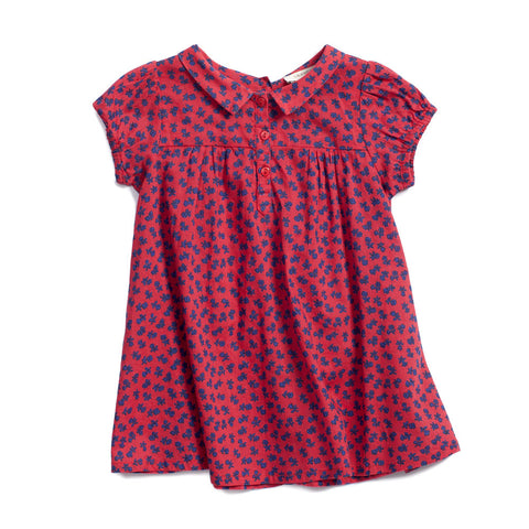 Caramel Baby & Child Annatto Baby Girl Dress Tomato Small Flower